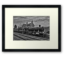 Great Western Railway Engine 2857 - Black and White Version Framed Print