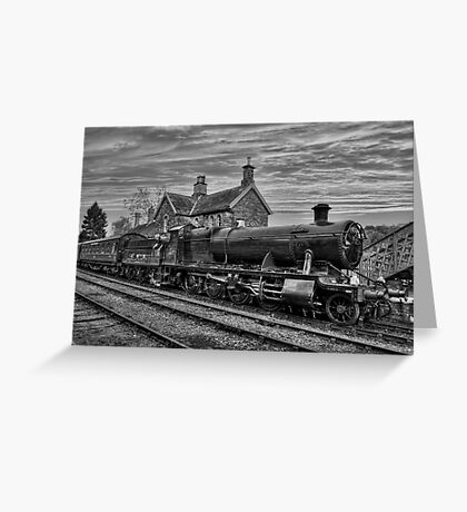 Great Western Railway Engine 2857 - Black and White Version Greeting Card