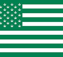 Weed American Flag by crunchyparadise