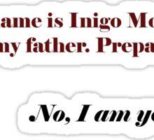 Inigo Vader Sticker