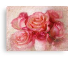 Because you're a beautiful person,  I wanted to send some pink roses to you. Canvas Print