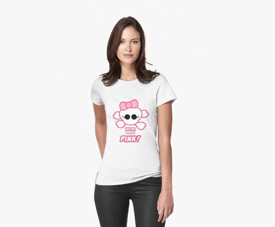 Girly Skull - Bad Girl Wear Pink by timageco