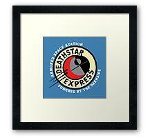Death Star Express Framed Print