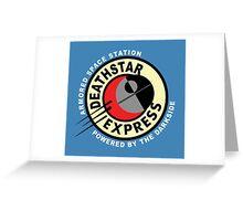 Death Star Express Greeting Card