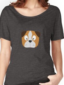 Cute Dog Face Women's Relaxed Fit T-Shirt