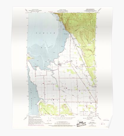 USGS Topo Map Washington State WA Bow 240179 1954 24000 Poster