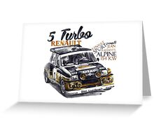 Rally Group B-Renault 5 Turbo Greeting Card