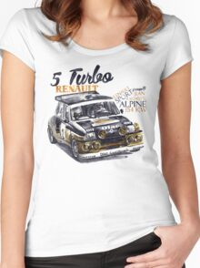 Rally Group B-Renault 5 Turbo Women's Fitted Scoop T-Shirt