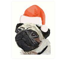 Christmas Pug Design Art Print
