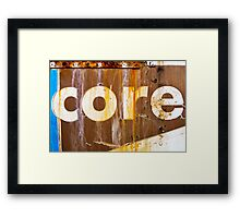 core Framed Print