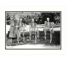 Cemetery Skeletons  Art Print