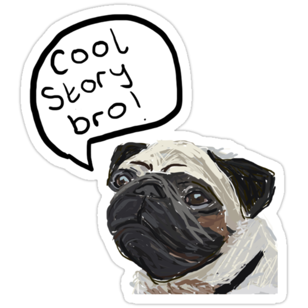 Cool Story Bro Pug Illustration by EmmaCossey