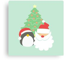 Santa & Penguin #4 Canvas Print