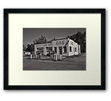Frank's Echo Service Station Framed Print