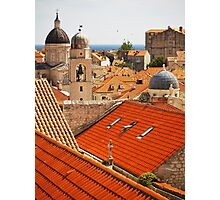 Dubrovnik Rooftops Photographic Print
