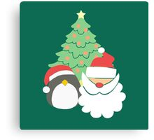 Santa & Penguin #5 Canvas Print