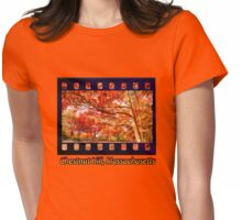 Fall Road,Chestnut Hill, Massachusetts Womens Fitted T-Shirt
