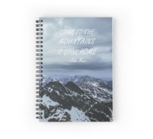 Going to the mountains Spiral Notebook