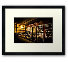 Digitally Enhanced interior of a bar Framed Print