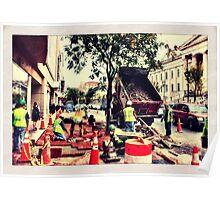 Sidewalk repair Poster