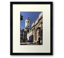 Valladolid Cathedral Tower Framed Print