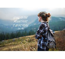 Going to the mountains Photographic Print
