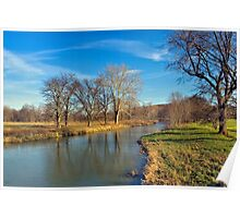 Late Fall Reflections on Chillisquaque Creek Poster