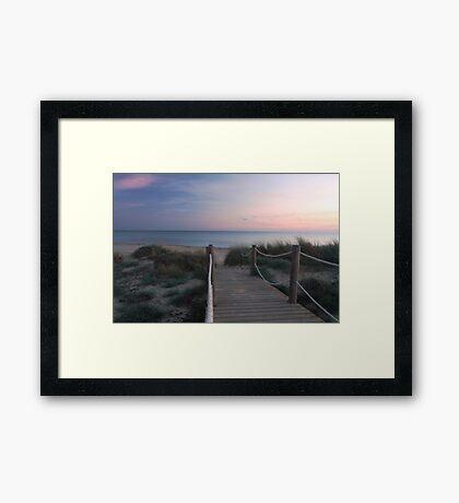 The sun has set Framed Print
