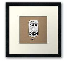 Coffee Diem Framed Print