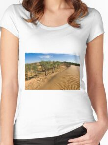Tamarix trees on sand dune  Women's Fitted Scoop T-Shirt