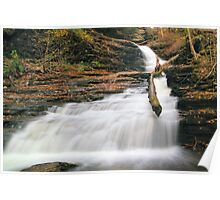 Huron Falls in Autumn Twilight Poster