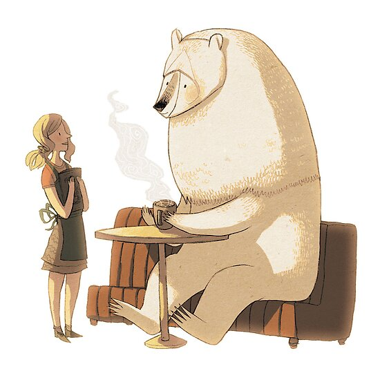 Polar Bear Coffee Break by znuese