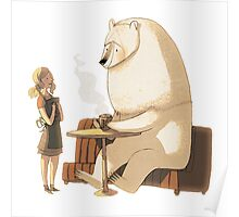 Polar Bear Coffee Break Poster
