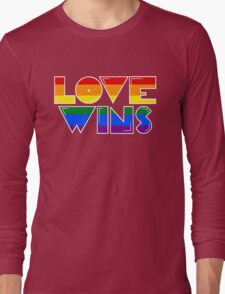 Love Wins Rainbow Gay Homosexual Lesbian Long Sleeve T-Shirt