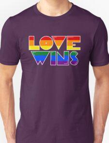 Love Wins Rainbow Gay Homosexual Lesbian Unisex T-Shirt