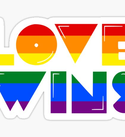 Love Wins Rainbow Gay Homosexual Lesbian Sticker