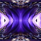 Blue Poppy Fish Abstract by JMcCombie