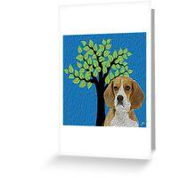 Beagle Hopper Greeting Card