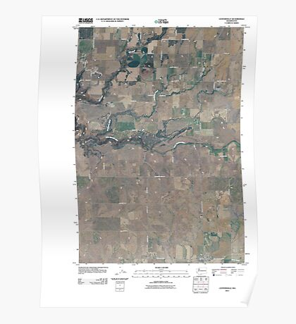 USGS Topo Map Washington State WA Centerville 20110407 TM Poster
