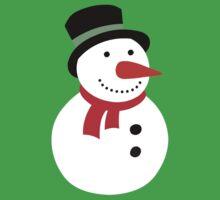 Snowman  One Piece - Short Sleeve