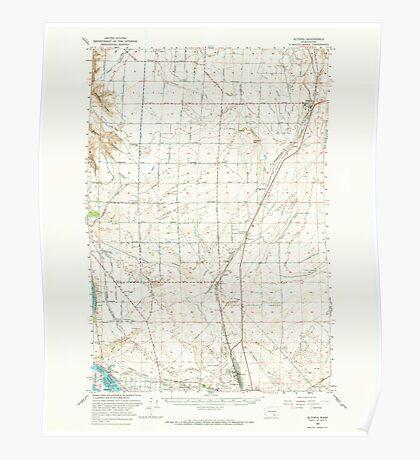 USGS Topo Map Washington State WA Eltopia 241038 1965 62500 Poster