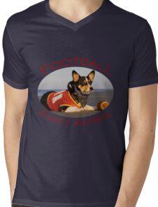 Football Party Animal Mens V-Neck T-Shirt