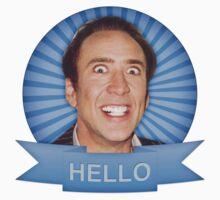 Nicolas Cage - HELLO w/Banner Kids Clothes