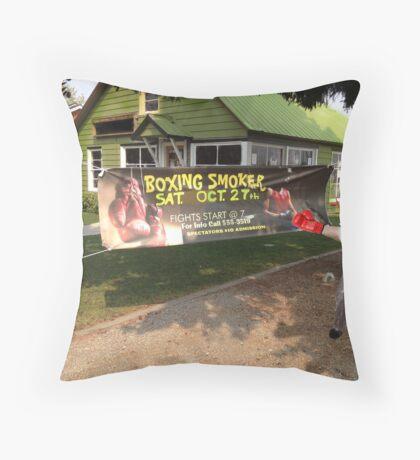 Boxing Smoker Throw Pillow