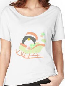Penguin in Sleigh #1 Women's Relaxed Fit T-Shirt