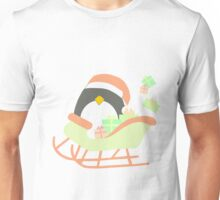 Penguin in Sleigh #1 Unisex T-Shirt