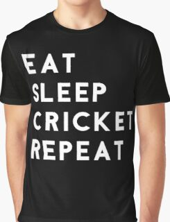 Eat Sleep Cricket Repeat Graphic T-Shirt