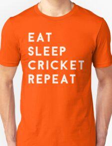 Eat Sleep Cricket Repeat Unisex T-Shirt