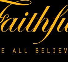 Faithfull Sticker