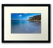 Green Patch Beach Framed Print